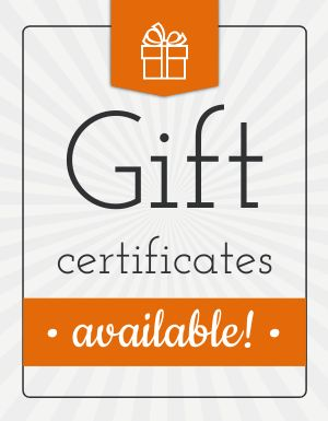 Gift Certificates Available Announcement