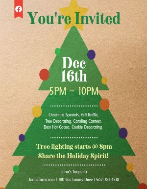 Christmas Tree Event Flyer
