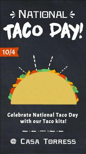 Taco Day Instagram Story