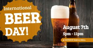 International Beer Day Facebook Post