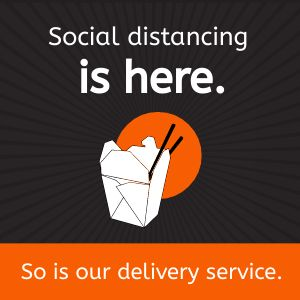 Delivery Distancing Instagram Post