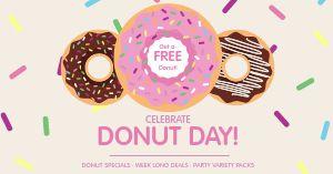 Free Donut Facebook Post