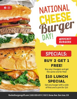Cheeseburger Day Flyer