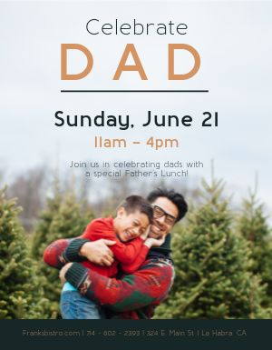 Fathers Day Promo Flyer