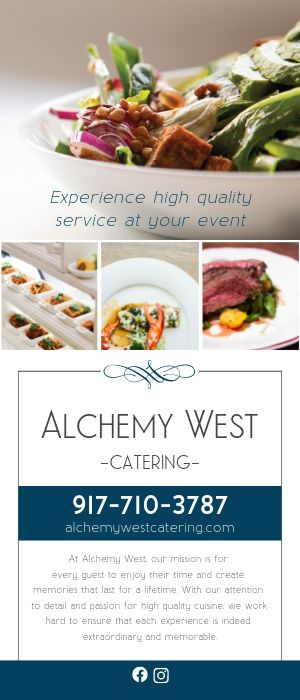 Gourmet Catering Rack Card