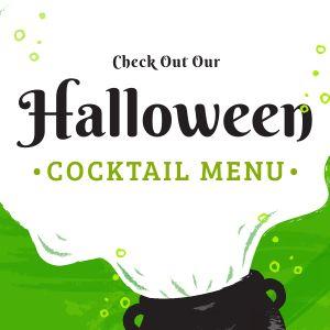Halloween Cocktail Instagram Post