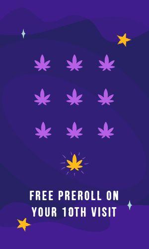 Purple Dispensary Loyalty Card