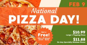 Pizza Day Specials Facebook Post