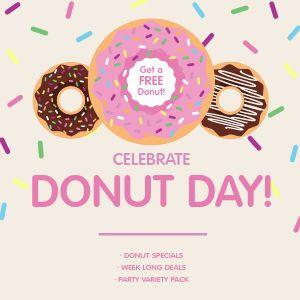 Free Donut Instagram Post