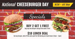 Cheeseburger Day Facebook Update