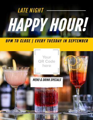 Happy Hour QR Flyer