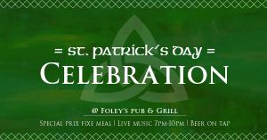 St Patricks Celebration Facebook Post