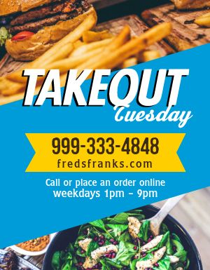 Takeout Tuesday Reminder Flyer