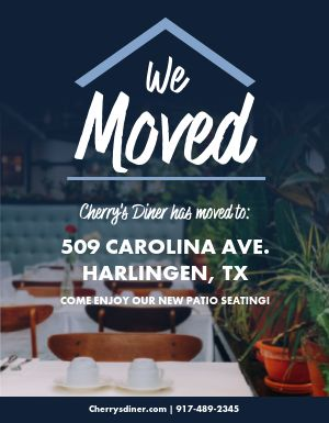 We Moved Flyer