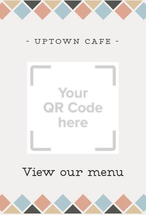 Mobile Menu Table Sign