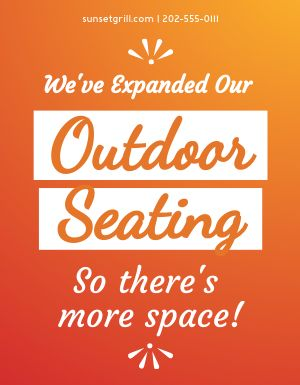 Patio Seating Sign