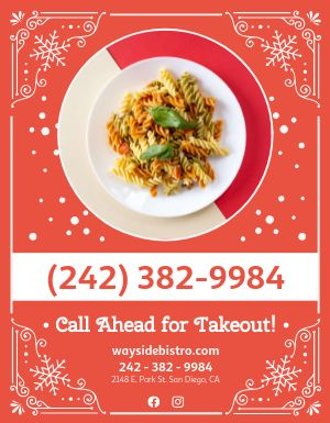 Holiday Takeout Flyer