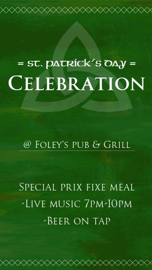 St Patricks Celebration Instagram Story