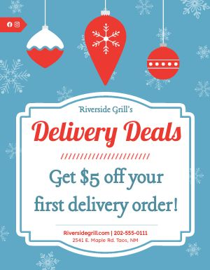 Delivery Deals Flyer