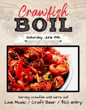 Crawfish Boil Flyer