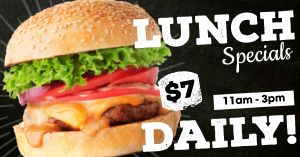 Lunch Specials Facebook Post