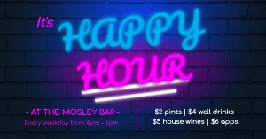Happy Hour Neon Facebook Post