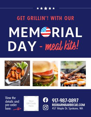 Memorial Day Takeout Flyer