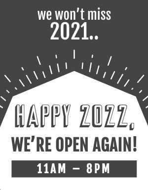 New Year Reopening Sign