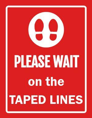 Wait Line Signage