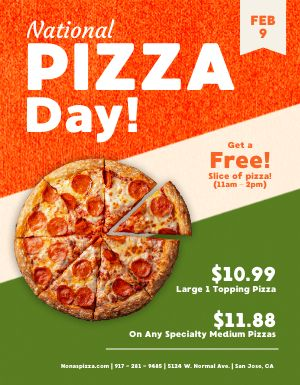 Pizza Day Specials Flyer