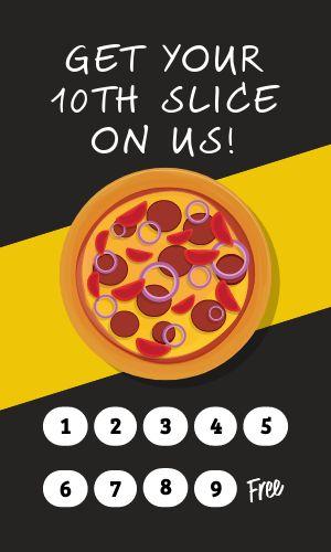 Pizza Rewards Card