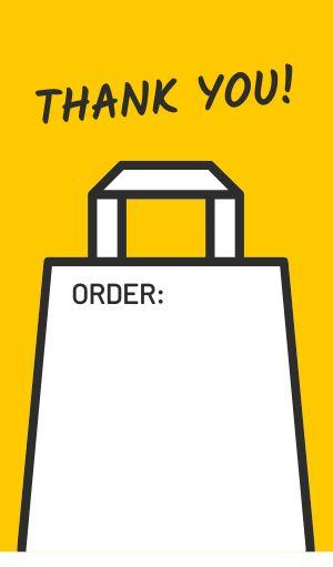Thanks Order Label
