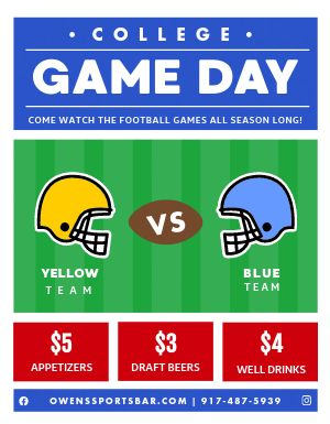 Game Day Sports Bar Flyer