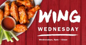 Wing Wednesday Facebook Post