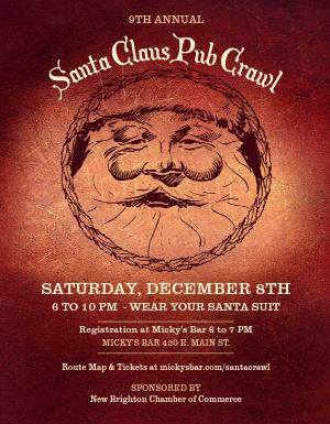 Santa Claus Pub Crawl Flyer