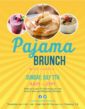 PJ Brunch Flyer