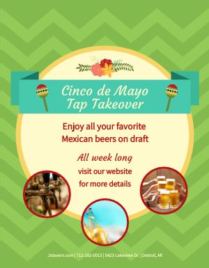 Cinco de Mayo Taps Flyer