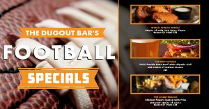 Football Game Specials Facebook Post