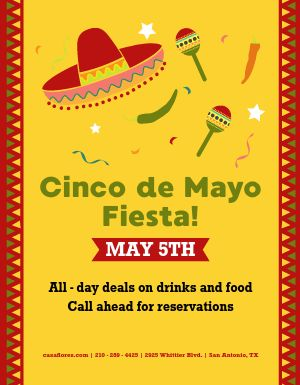 Cinco De Mayo Springtime Flyer
