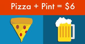 Pizza and Beer Facebook Post