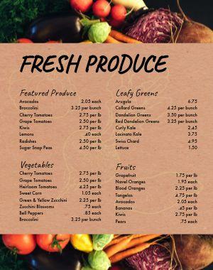Farmers Market Produce Poster