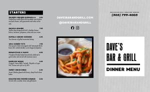 Grill Pub Takeout Menu