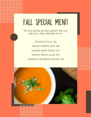 Fall Specials Family Menu
