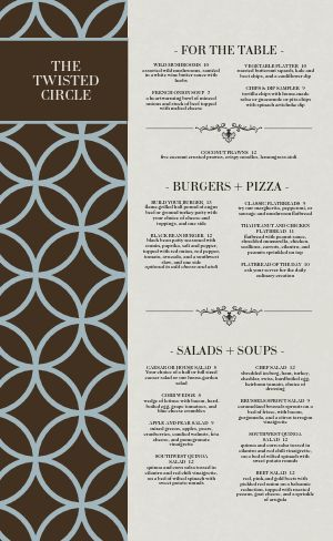 Country Club Dine In Menu
