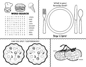 Fun Diner Kids Menu