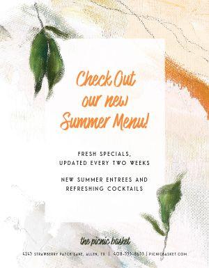 Summer Menu Flyer