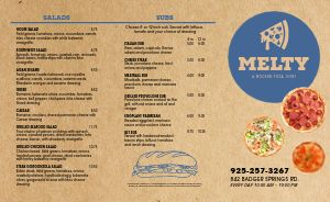 Cheese Pizza Takeout Menu