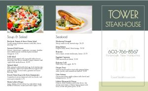 Essential Steakhouse Takeout Menu