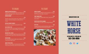 Sample Pub Takeout Menu