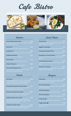 Dine In Cafe Menu